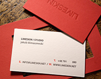 Limeskin - 20x9 cm! letterpress business card