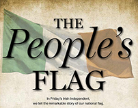 "Press ad for ""The People's Flag""."