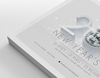 2018 New Year's Flyer Template