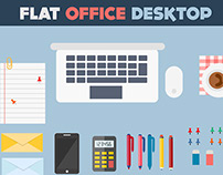 Flat Office Desktop