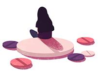 Editorial illustration & layout design