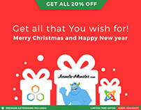 Christmas & New Year Joomla templates sale!
