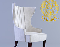 Bergere Pouff Versace Home Chair (modified)