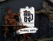 MHO4-THE DRUNK YARD Mural art