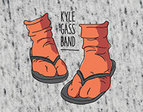 Kyle Gass Band T-shirt — font in use