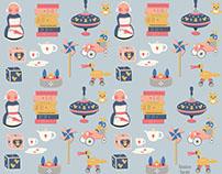 Vintage toys pattern