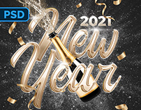 New Year Flyer - PSD Template