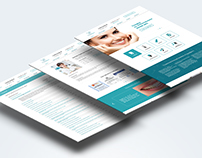 Graduation project. Dental clinic website design