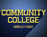 Community College Custom Font