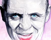Hannibal Lecter (Watercolour)