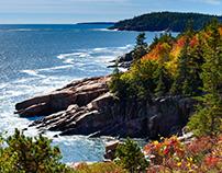 Fall colors at Acadia National Park