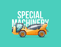 Heavy Machinery. Special Equipment Icon Set