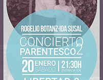 Cartel concierto Madrid Ida Susal y Rogelio Botanz