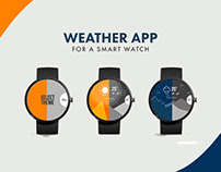Weather app for a smart watch