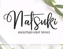 NATSUKI-handlettered script font