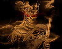 The Skeleton King / Digital Art