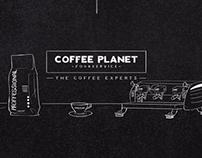 Coffee Planet Chalkboard Explainer