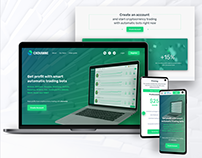 Chovenee. Website and User Dashboard Financial Service