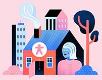 'The Loop' website Illustrations