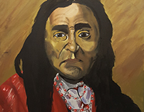 Masters Copy of the oil Painting of Chief Seattle