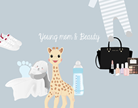Young mom and beauty
