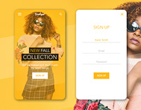 Mobile Fashion App Login Screen (Lesson by Dansky)