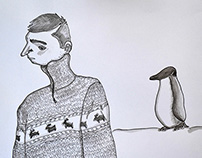 Death and the Penguin Illustration
