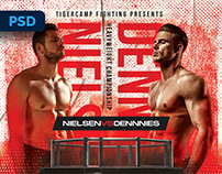 MMA Boxing Flyer - PSD Template