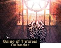 Game Of Thrones Calendar 2016