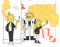 'Civic Health' - Flu Season Feature Illustrations