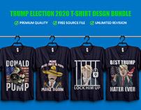 Trump Election 2020 T-Shirt Design Bundle