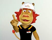 Lion Logo 3D Mascot