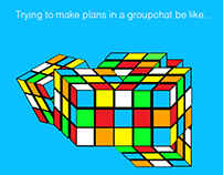 #GroupChatProblems social media design