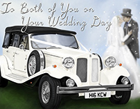 Design & Artwork for Classic Wedding Car Business