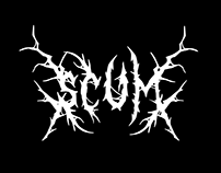 scum trash free font