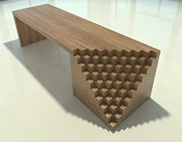 Scala - cedar wood bench