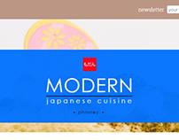 Modern Japanese Cuisine website