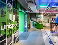 UNISPORT, branding & retail design
