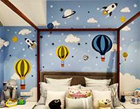 Dreamland - Residential Wall Mural