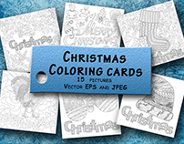 Christmas Coloring Cards for adult