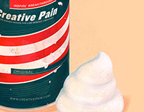 The creative pain: Shaving cream