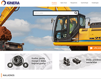 IGNERA - respresentational website with product catalog