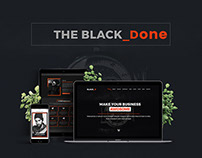 The Black Done – Free One Page Portfolio Template