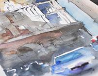 Milano - studio per acquerello
