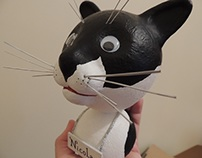 Toy art: Nicolau, the cat