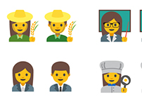 Google Android Women Professional Emoji Design