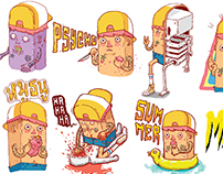 YELLOW THUG : STICKER LINE : SET 3