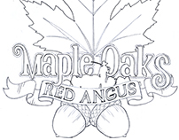 Maple Oaks Red Angus - Logo Design
