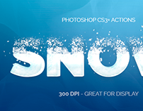 Snowy Type - Photoshop Actions
