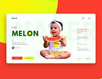 Watermelon UI concept.